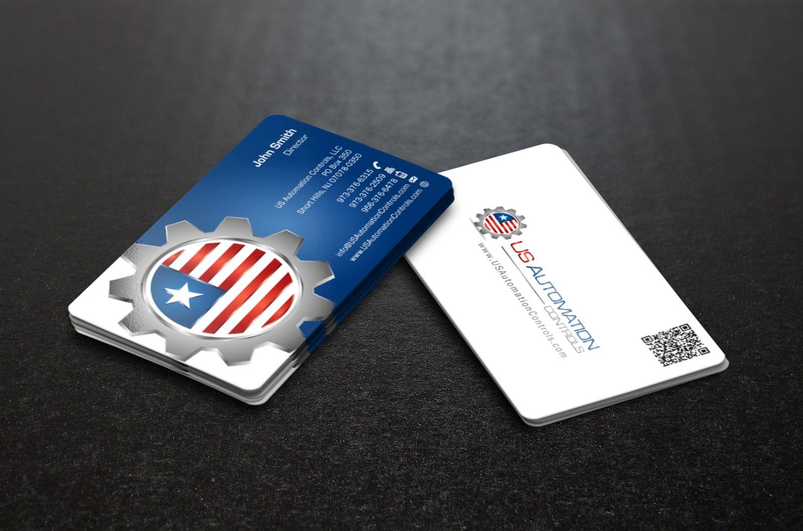 In card visit bo 4 góc - Hình ảnh được chụp bởi NamVietAd.Com