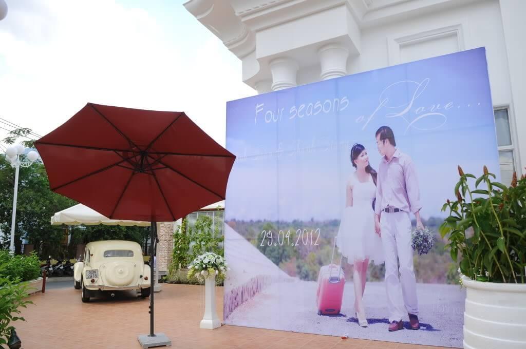 In backdrop sự kiện ngoài trời - Hình ảnh được chụp bởi NamVietAd.Com