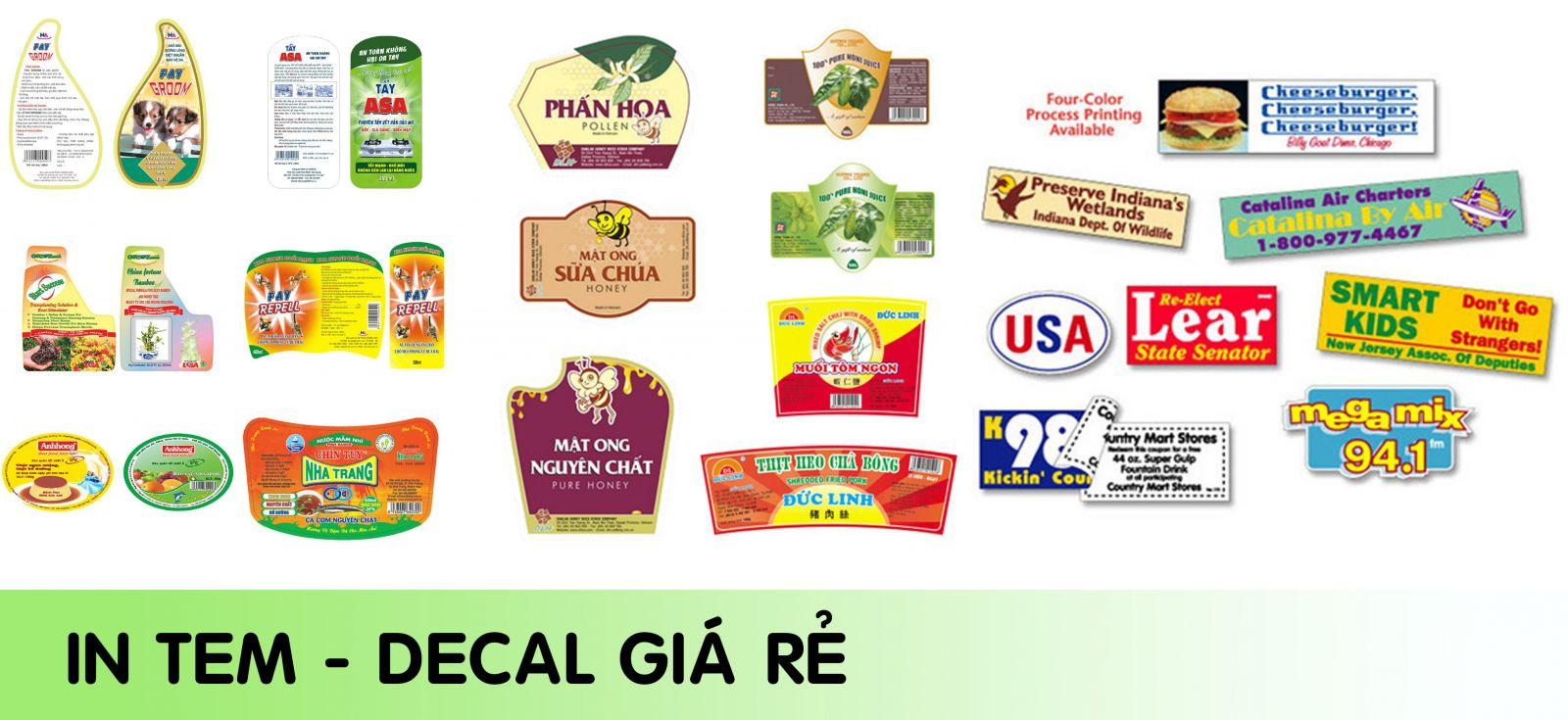 In tem nhãn & báo giá in tem nhãn chất lượng cao - Hình ảnh được chụp bởi NamVietAd.Com