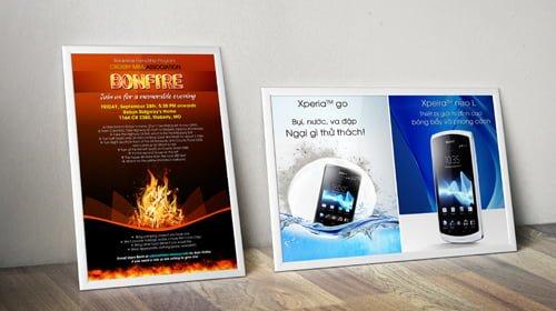 In Poster quảng cáo - Hình ảnh được chụp bởi NamVietAd.Com