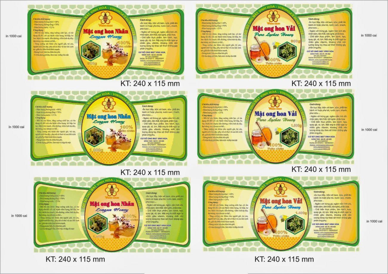 Thiết kế tem nhãn theo yêu cầu khách hàng - Hình ảnh được chụp bởi NamVietAd.Com