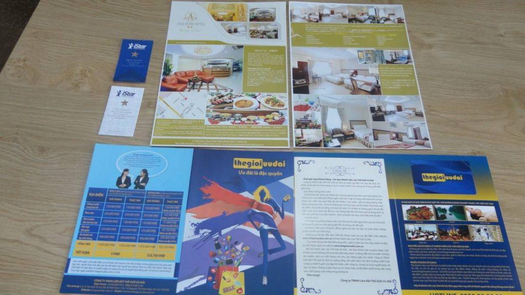 Chất liệu dùng để in tờ rơi - Hình ảnh được chụp bởi NamVietAd.Com