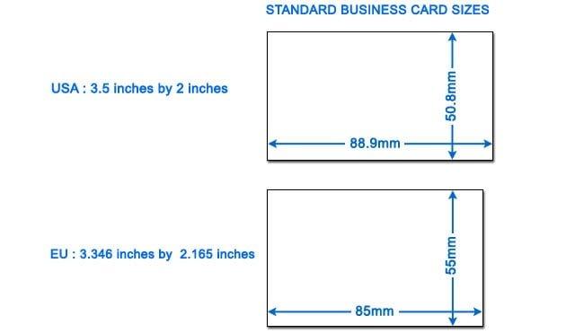 Kích thước card visit phổ biến - Hình ảnh được chụp bởi NamVietAd.Com
