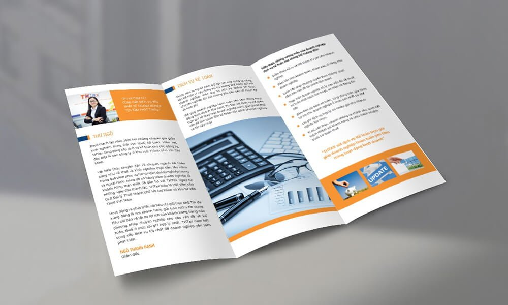 Thiết kế tờ gấp chuyên nghiệp - Hình ảnh được chụp bởi NamVietAd.Com