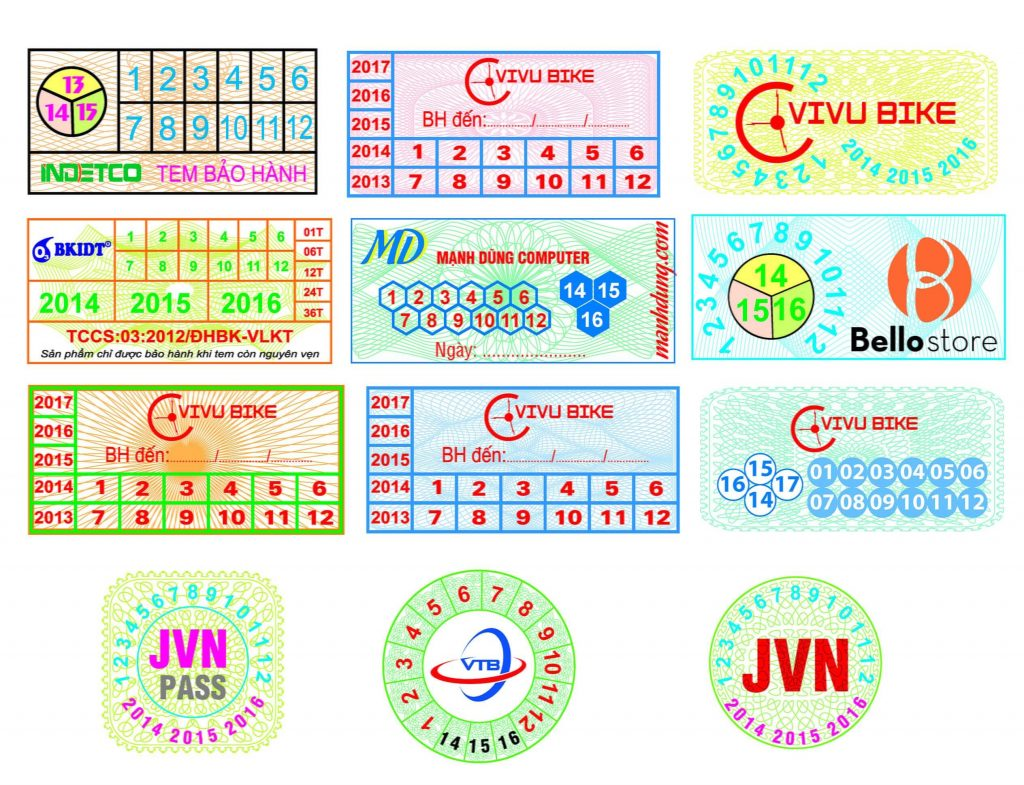 Đặc điểm của tem bảo hành - tem vỡ – Hình ảnh được chụp bởi NamVietAd.Com