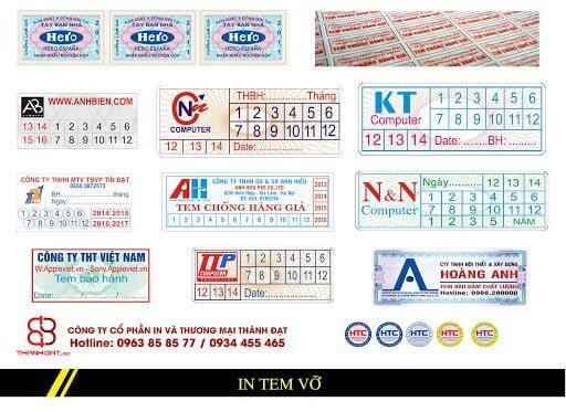 Quy trình in tem bảo hành – Hình ảnh được chụp bởi NamVietAd.Com
