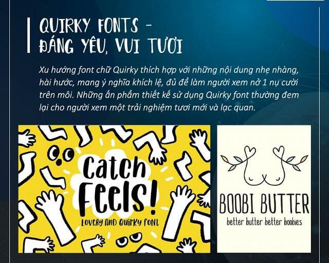 Font chữ xu hướng Quirky fonts