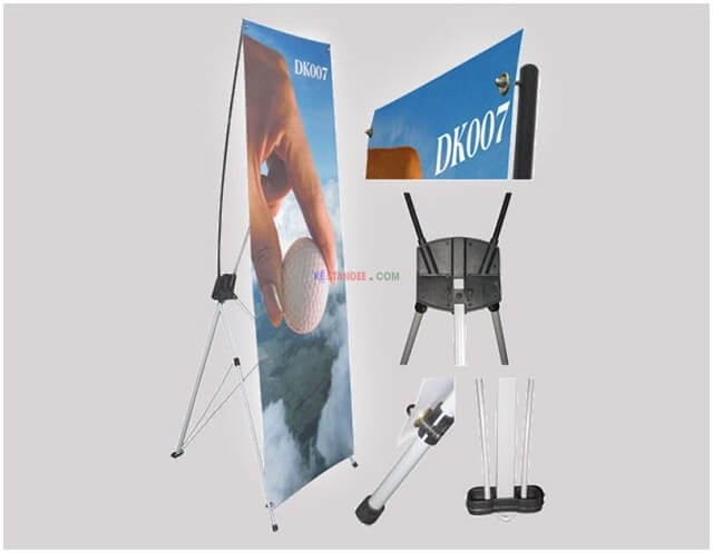 Standee X Nhôm Cao Cấp 80x180cm hỗ trợ cho việc quảng cáo hiệu quả.