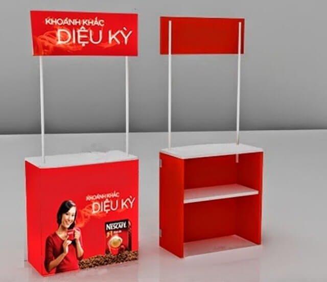 Booth bán hàng di động nhiều ngăn tiện lợi