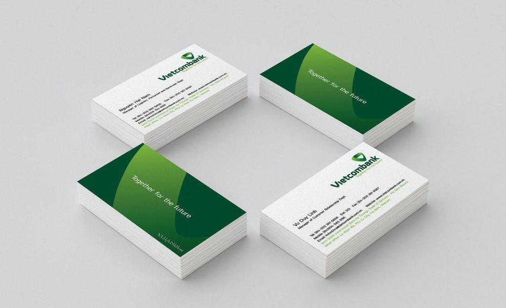 Mẫu name card 1 - Hình ảnh được chụp bởi NamVietAd.Com