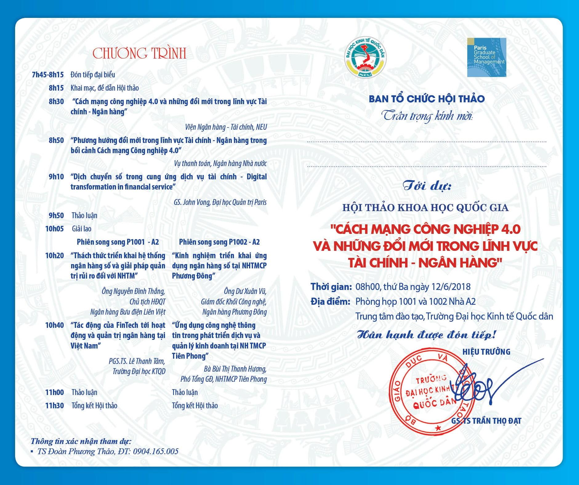 Mẫu thiệp mời hội thảo 2020 - hình ảnh chụp bởi Namvietad.com