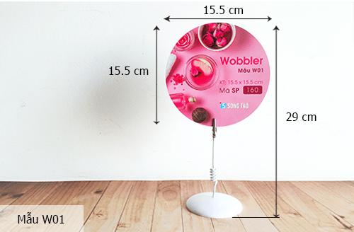 Kích thước wobbler - Hình ảnh được chụp bởi NamVietAd.Com