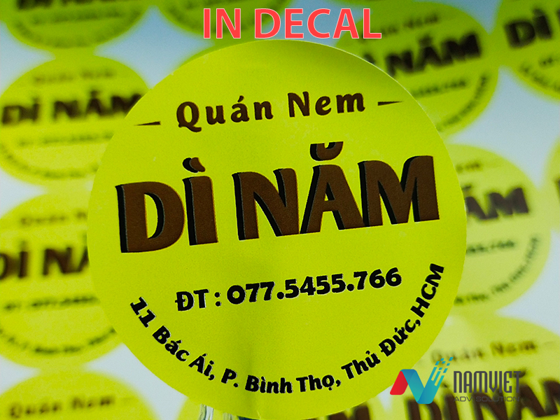 In Decal Tại TPHCM, In Đề Can Đẹp