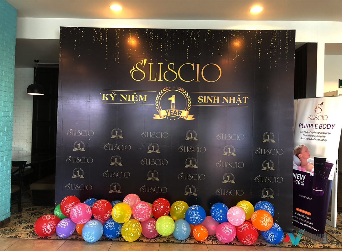 Nam Việt AD chuyên thi công backdrop tiệc, sự kiện, hội nghị, sinh nhật