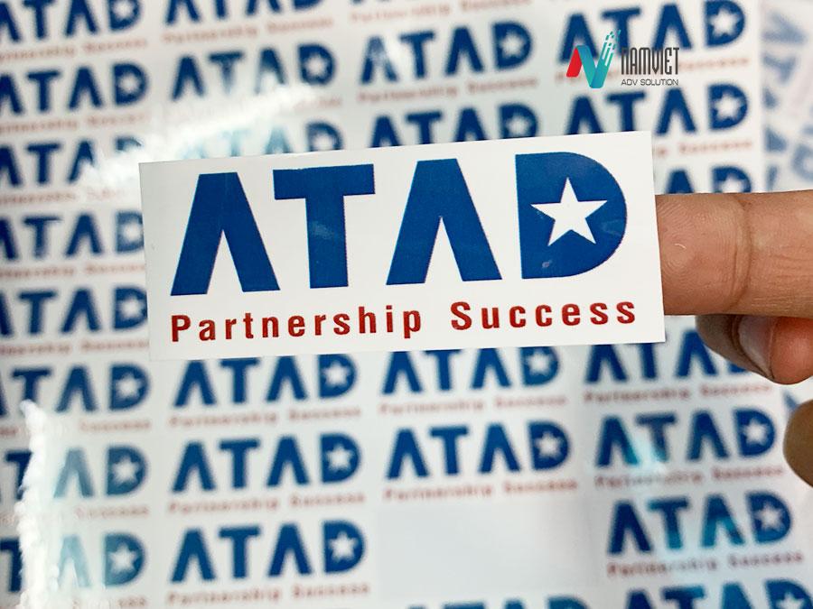 In tem nhãn dán cho công ty ATAD