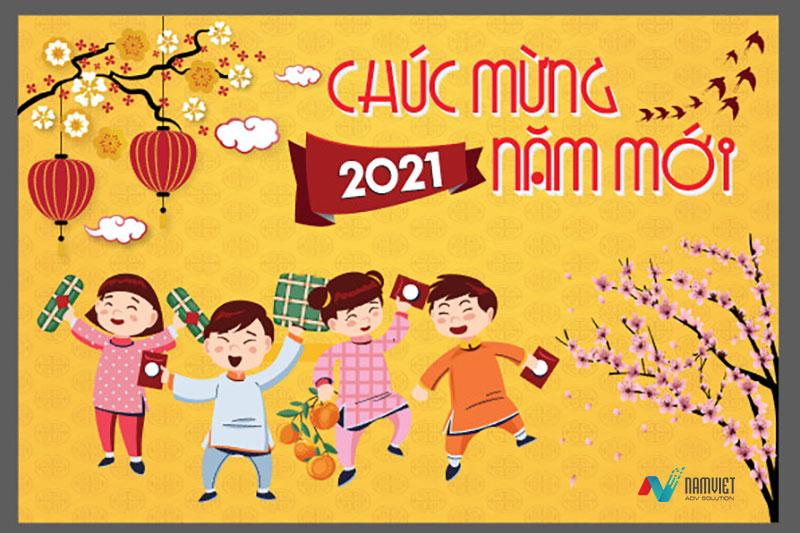 In backdrop chúc mừng năm mới 2021