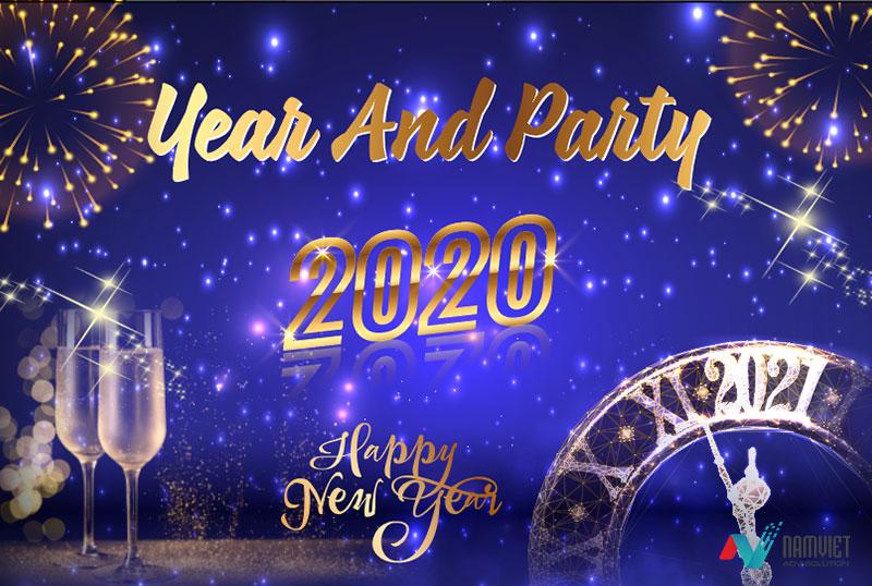 Băng rôn year and party 2021